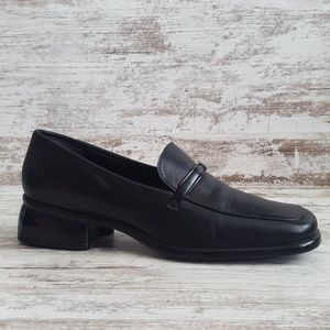 🔵Nine West Black Leather Loafer